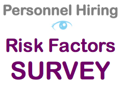 Personnel Hiring - Risk Factors Survey