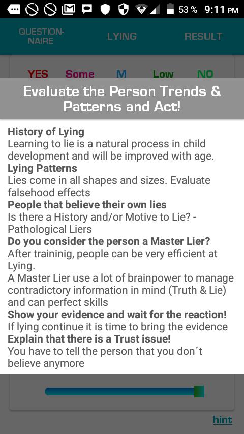 Visual Lie Detector - Visual Lie Detector